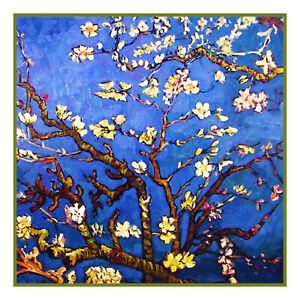 Impressionist-Vincent-Van-Gogh-039-s-Almond-Branches-Counted-Cross-Stitch-Pattern