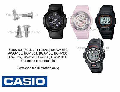 Qty4 Genuine Casio Bezel Shell Screw Set for G-100 G-101 G-7500 G-7510 /& more