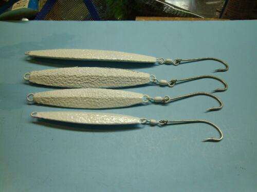 "stripers blue fish,sea bass 4-pack /& 12- pack /"" GLOW /"" Hammered Diamond Jigs"