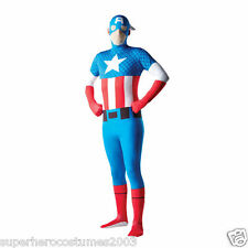 The Avengers Captain America 2nd Skin Costume Marvel Comics Size Large Rubies