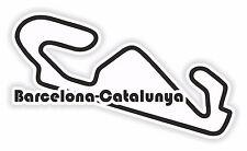 Barcelona-Catalunya Circuit Race Track Sticker Motorcycle Gas Tank Bumper Helmet