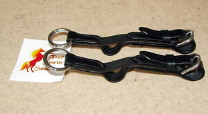 FSS-Leather-Flexi-Flexible-Elastic-Insert-Reins-Aid-4-Soft-Hand-Contact-BUCKLES