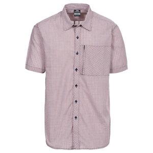Trespass-Lansing-Mens-Short-Sleeve-Button-Fastening-Casual-Summer-Check-Shirt