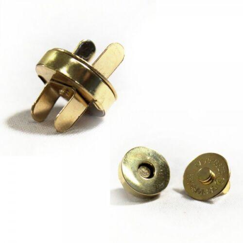 10 20 Pack 14mm magnético Cierres bolso de mano cartera Broches Metálicos 5