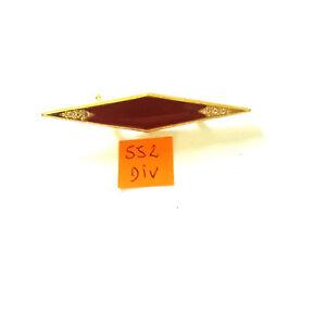 1 Broche Métal Doré Et émail Bordeaux - 66x12mm - 552div Emballage De Marque NomméE