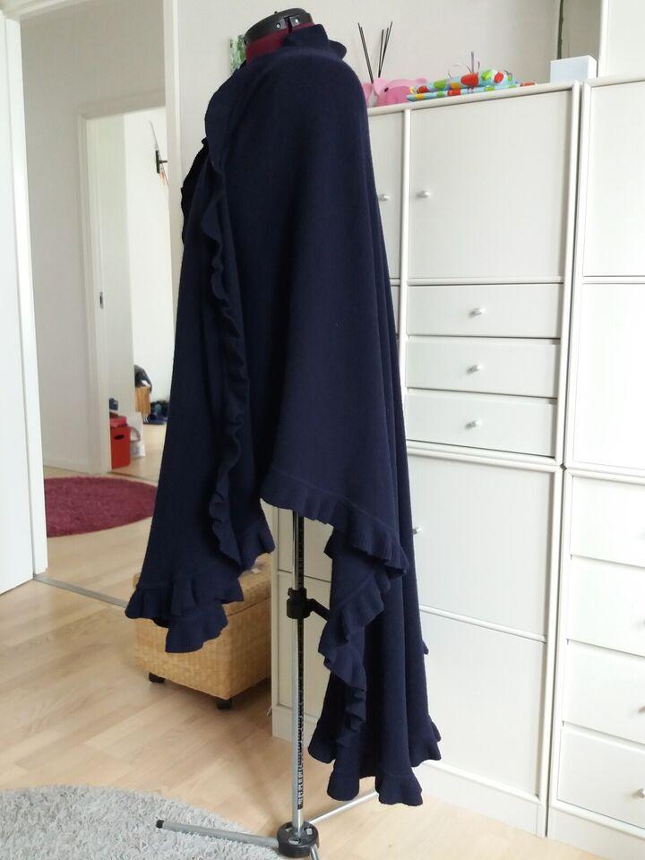 Sjal, Ukendt mærke, str. Totallængde 130 cm bagpå