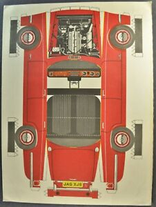 1969 Jaguar XJ6 Sedan Cut-Out Paper Model Sheets Excellent Original 69
