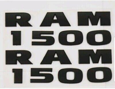 Matte Black 2x Dodge Ram 1500 Mopar Front Door Badge Logo Nameplate Emblem