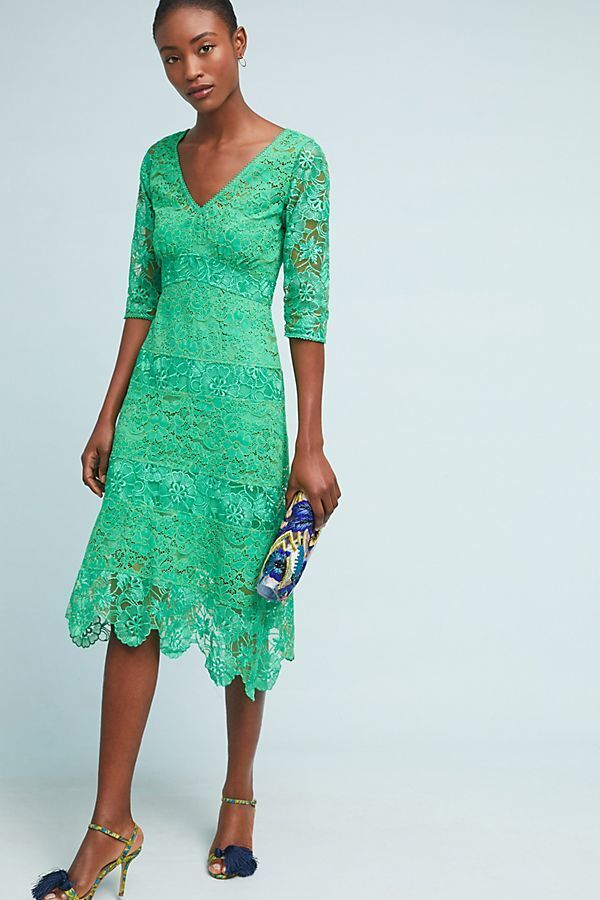 NWT Anthropologie Angelica Lace Midi Dress Plenty By Tracy Reese Size 10