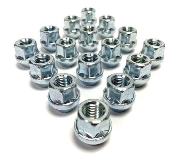 19mm Hex Lega Aperto Dadi delle ruote Set di 20 x m12 x 1.25 Argento