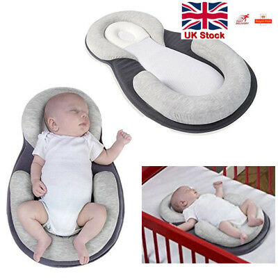Spirited Uk Infant Baby Newborn Pillow Cushion Prevent Flat Head Sleep Nest Pod Anti Roll