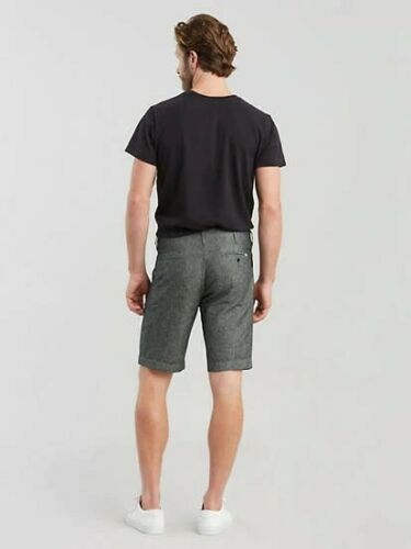 Details about  /Levis Mens 502 Taper Fit Black Chambray Chino Shorts Tag Size 40