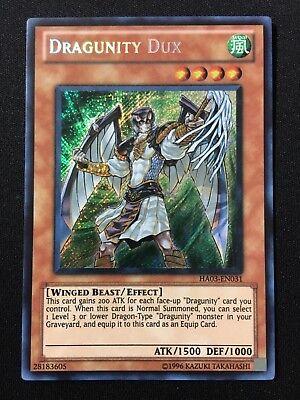 Dragunity Dux HA03-EN031 M//NM Yugioh 1st Edition Secret Rare
