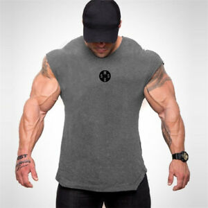 Men-039-s-Gym-Fitness-Muscle-Top-Tank-Tops-Custom-Sport-Bodybuilding-Workout-Vests