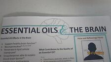 NEW - Essential Oils & The Brain Pamphlet Stress Anxiety Memory Depression PLUS