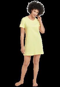 Schiesser Damen Sleepshirt Nachthemd 85cm Bigshirt 169488-600 gelb Gr 36-48
