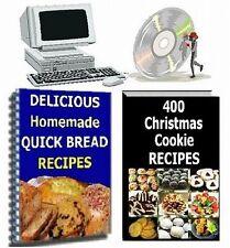 400 Cookie & 100 Quick Bread Recipes..2 Cookbooks on CD