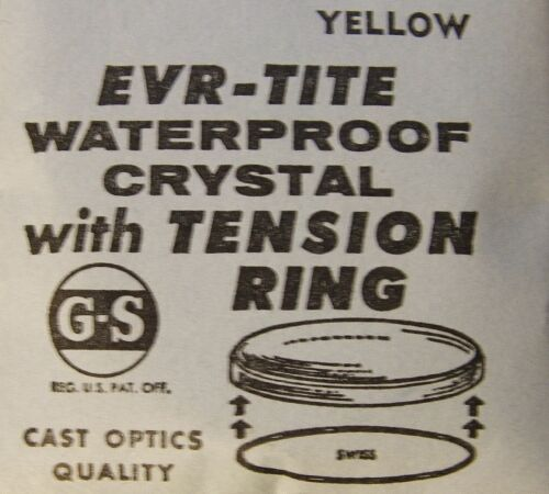 GS EVR-TITE Waterproof Crystals with Yellow Tension Ring 29.6-34.5 mm