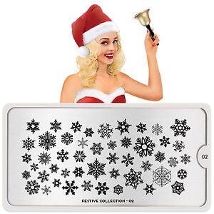 MoYou-London-FESTIVE-2-Collection-Stamping-Schablone-Weihnachten-Schneeflocke