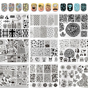 Born Pretty Nail Art Stamping Plates Image Stamp Template Rectangle Square Round