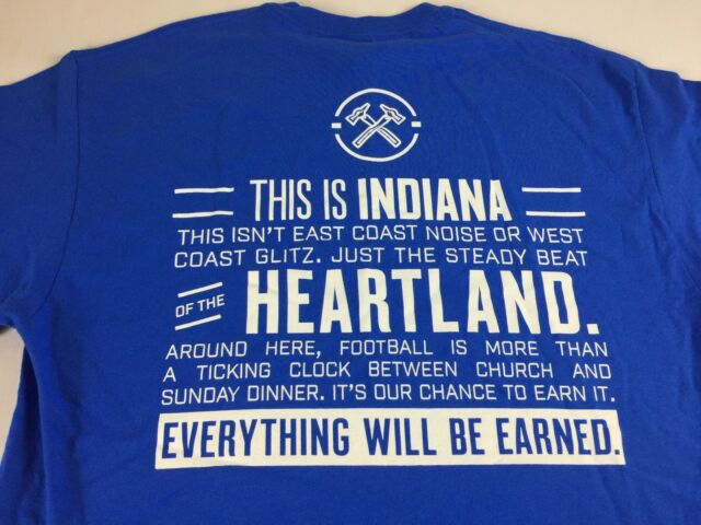 Indianapolis Colts T-Shirt Mens XL This Is Indiana Heartland NFL Football Indy