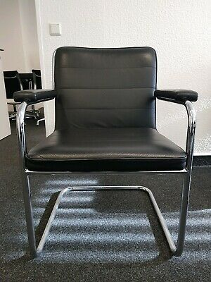 Stuhl BürostuhlEbay Freischwinger Schwarz Thonet Leder BtdoshxrQC