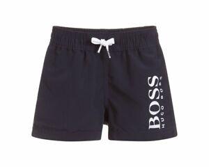 Hugo Boss Baby/'s J04325 849 Boys Summer Beach Logo Swim Shorts Navy