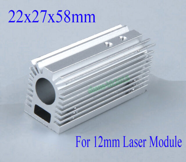 22x27x58mm Aluminum Radiator Heatsink For 12mm Laser Module With Screws Silver