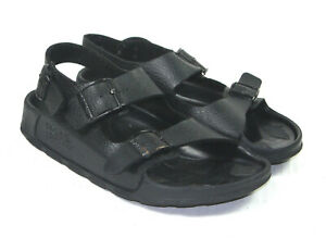 Birki-039-s-by-Birkenstock-Women-039-s-Black-Leather-3-Buckle-Sandals-Size-37-7-US
