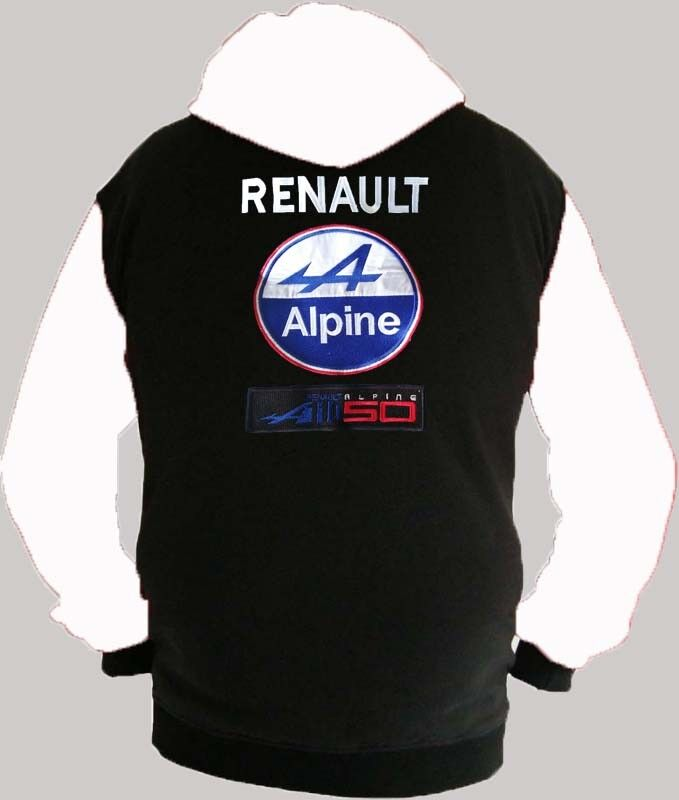 Renault Alpine Racing Fan Kapuzenjacke Hoodie Lieferz. siehe Beschreibung