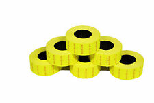 10,000 Fluorescent Yellow Best Before CT1 Price Gun Labels For Motex MX-5500