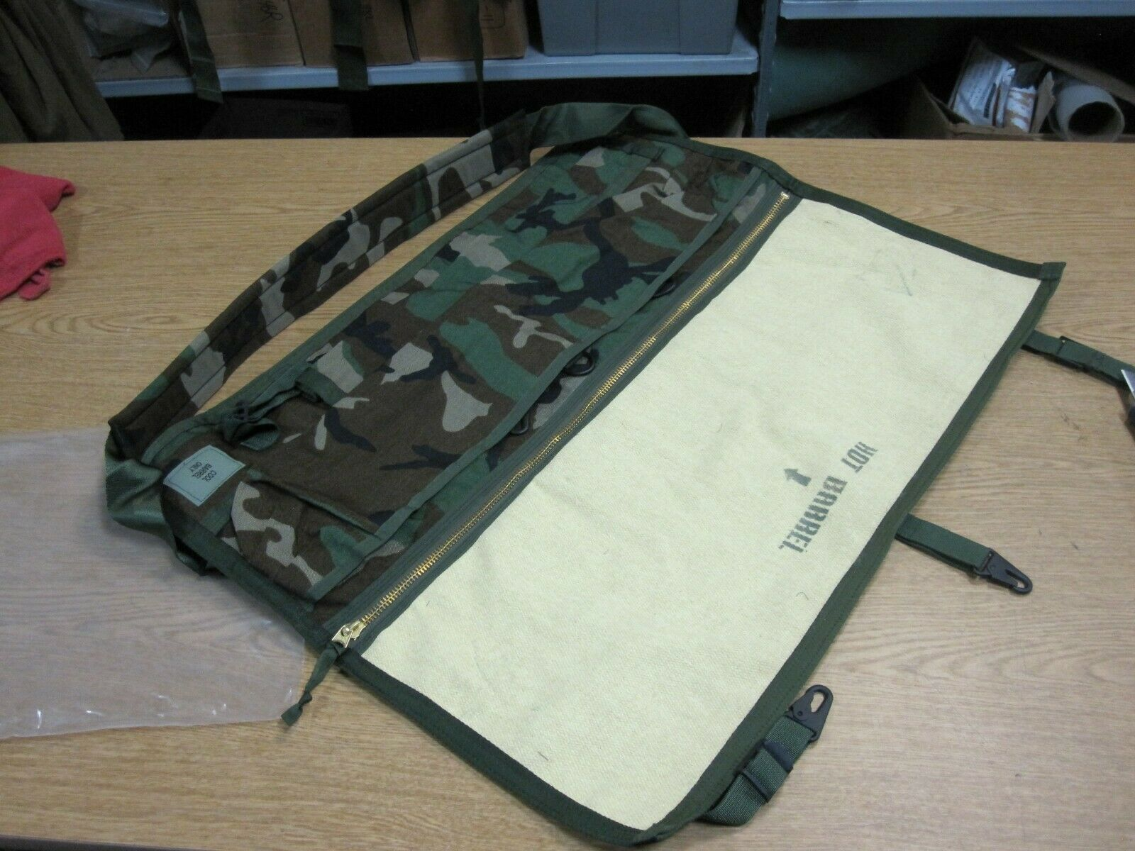 USGI Woodland Camo Spare Barrel Carrying Bag M240 HMMWV m998 Lmtv humvee 5 ton