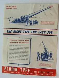 Flyer For Plumb Type Composition And Press Proof Service c40s Great War Graphics