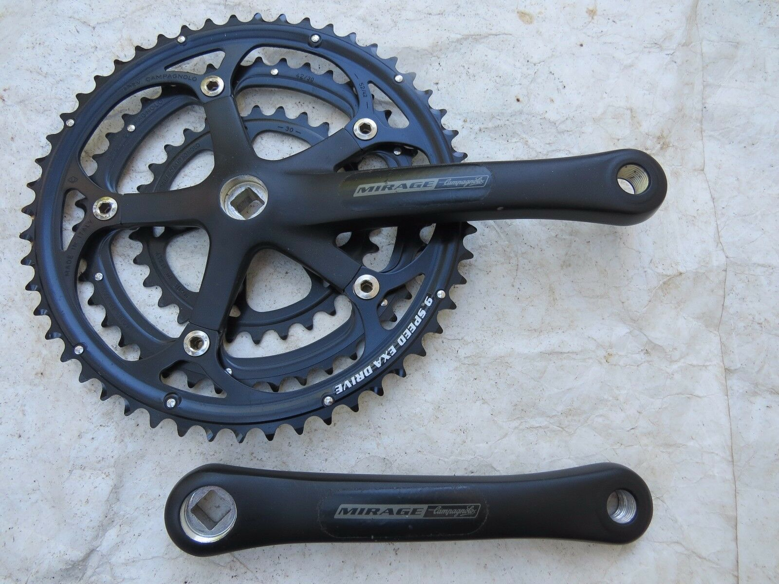 NEW 170 CAMPAGNOLO 9 SPEED TRIPLE 30 42 52  MIRAGE CRANK SET ROAD TOURING