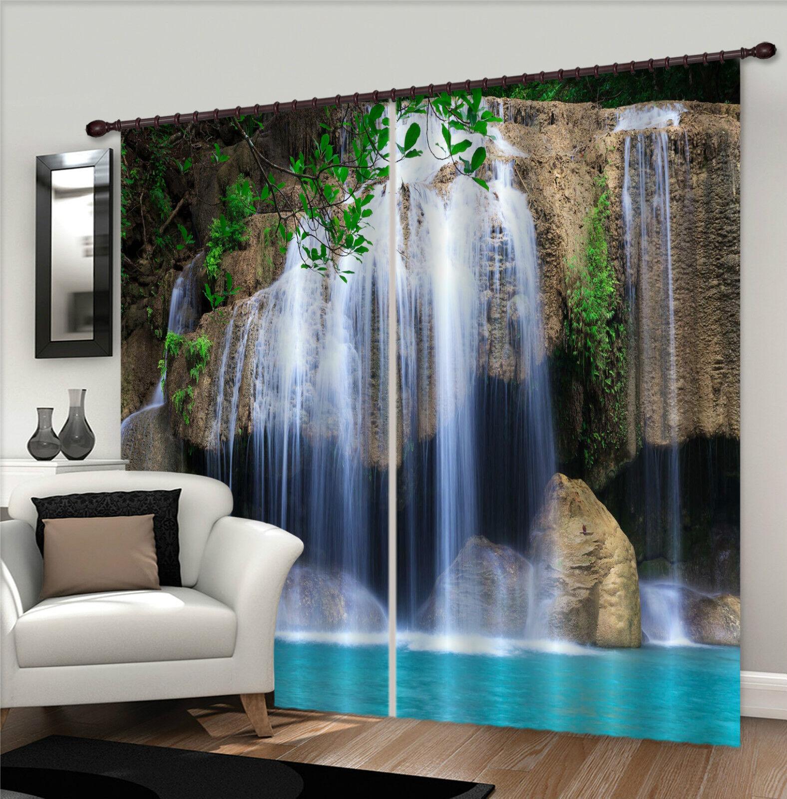 3d cascada 508 bloqueo foto cortina cortina de impresión sustancia cortinas de ventana