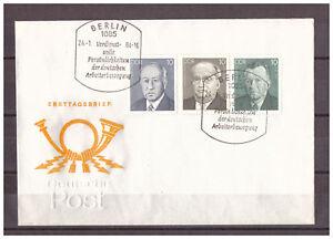 DDR-FDC-Persoenlichkeiten-Arbeiterbewegung-MiNr-2849-2851-SSt-Berlin-24-01-84