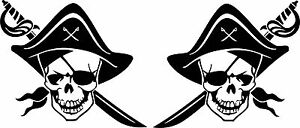 Pirates-Stickers-2-x-150-mm-x-130-mm-Quality-Stickers-suitable-for-outdoors
