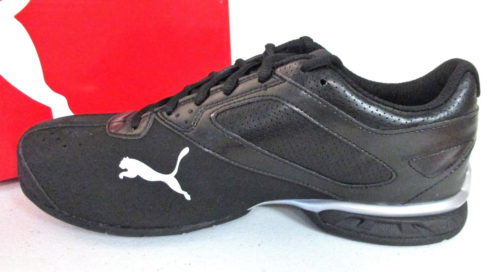 PUMA Men's Tazon 6 Black / Puma Silver Running Shoe SZ 8 M US 6199 []