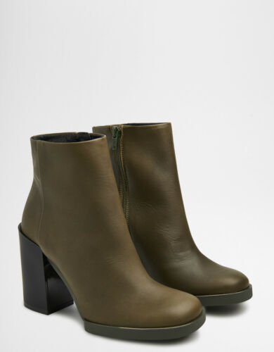 Army Boots Miista Leather Skye Various Green Sizes £180 Rrp Bnib Ankle Heeled wagxwFr