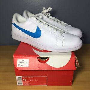 new styles 7a304 1936b Image is loading Nike-Tennis-Classic-Low-Blue-White-312495-144-