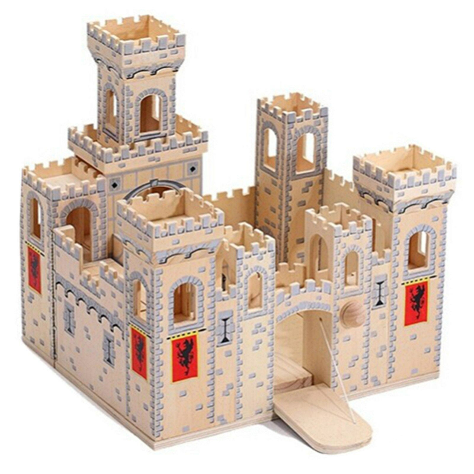 Castle with Zugtor of Wood Knight Castle Fortress Castle Pop Up