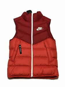 Nike-Down-Fill-Coursevent-gilet-rouge-Habanero-Red-Sail-928859-687-Neuf-avec-etiquettes-taille-S