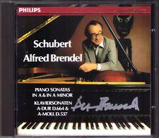 Alfred BRENDEL Signed SCHUBERT Piano Sonata D.537 644 Klaviersonaten CD 120 164