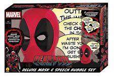 Deadpool Speech Bubble Mask Wade Wilson Adult Deluxe Mask Marvel Comics 33775