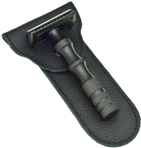 BLACK-German-Stainless-SAFETY-RAZOR-50-RAZOR-BLADES-Double-Edge-Razor-PRIME
