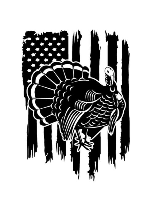 Camouflage Camo New Hampshire Turkey Hunter Hunting Vinyl Decal Sticker Gobbler