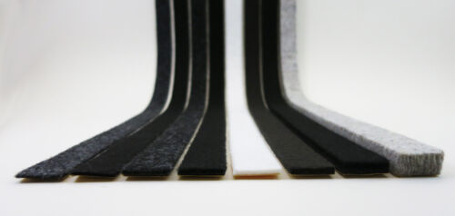 Professional felt strips 20mm wide strong self adhesive felt 2-10mm thick