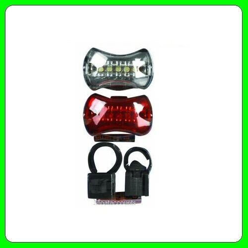 Front And Rear 5 Led Bike Cycle Light Set Inc Mounting Brackets BKP011