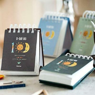 """100 Days"" 1pc Mini Planner Agenda Scheduler Cute Coil Weekly Journal Notebook"