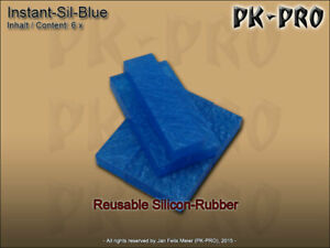 Instant-Sil-Mold-Blue-Stuff-6-Sofort-Abformmasse-Reuseable-35g